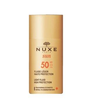 nuxe sun fluido solare leggero alta protezione spf50 50ml