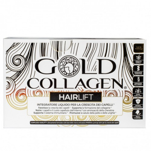 GOLD COLLAGEN HAIRLIFT INTEGRATORE CAPELLI 10 FLACONCINI