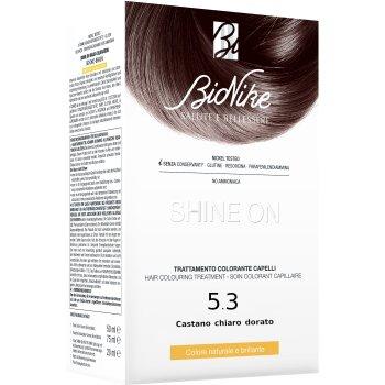 bionike shine on tintura capelli colore 5.3 castano chiaro dorato