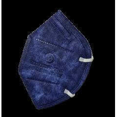 Mascherine FFP2 CE0370 Made In Italy Adulti Blu Jeans - 1,33€ al pz Buste Singole 15 Pezzi