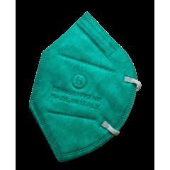 Mascherine FFP2 CE0370 Made In Italy Adulti Verde - 1,33€ al pz Buste Singole 15 Pezzi