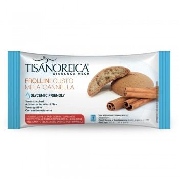 tisanoreica frollini glycemic friendly gusto mela cannella 50g