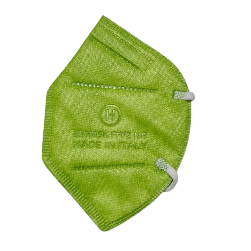 Mascherine FFP2 CE0370 Made In Italy Adulti Verde Mela - 1,33€ al pz Buste Singole 15 Pezzi
