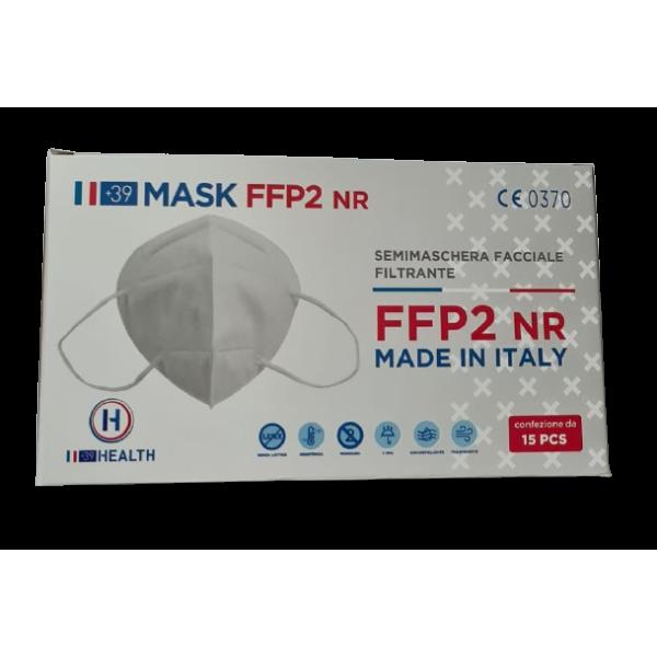 Mascherine FFP2 CE0370 Made In Italy Adulti Bianche - 1,33€ al pz Buste Singole 15 Pezzi
