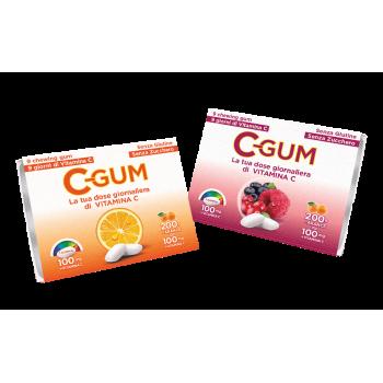 c-gum agrumi vitamina c 18 gomme da masticare