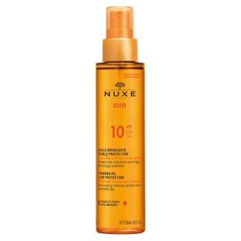 nuxe sun olio solare viso e corpo spf10 spray 150ml