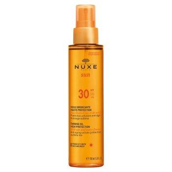 nuxe sun olio solare viso e corpo spf30 spray 150ml