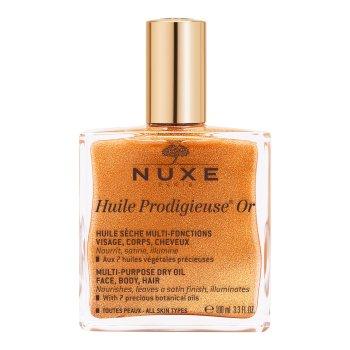 nuxe huile prodigieuse or olio secco viso corpo capelli scintillante multifunzione 100 ml