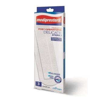 medipresteril medicazioni post operatorie delicate 10x30cm 3 cerotti
