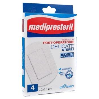 medipresteril medicazioni post operatorie delicate 10x15cm 4 cerotti