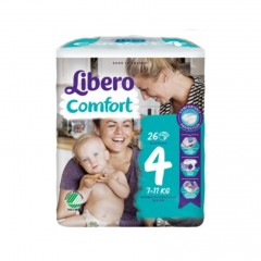 LIBERO Comfort 4 - 7-11Kg 26 Pannolini