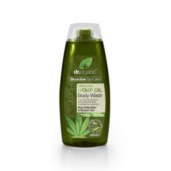 dr organic olio di canapa bagno & doccia 250ml