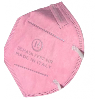 mascherine ffp2 ce0370 made in italy adulti rosa chiaro - 1,33€ al pz buste singole 15 pezzi