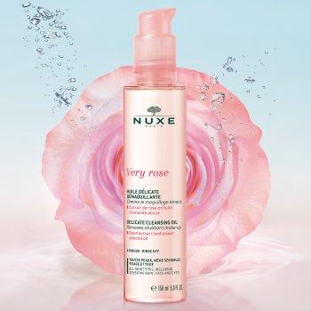 nuxe very rose olio delicato struccante 150 ml