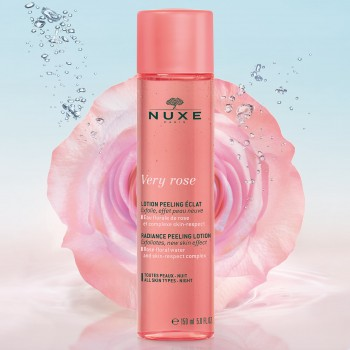 nuxe very rose lozione peeling luminosità 150 ml