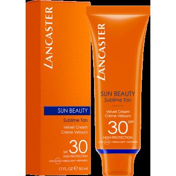 lancaster sun beauty velvet crema solare vellutata viso spf30 50ml