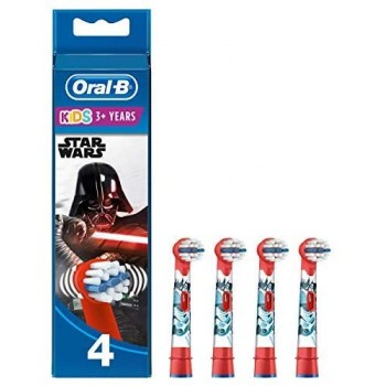 oralb refill eb 10 testine ricambio spazzolino elettrico kids star wars 4 pezzi