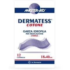 MASTER AID Garza Idrofila Dermatess 18 x 40 12 Compresse di Garza Sterile