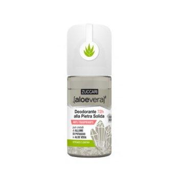 zuccari aloevera2 deodorante 72h pietra solida roll-on 50 ml