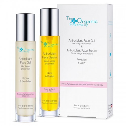 The Organic Pharmacy ANTIOXIDANT DUO FACE SERUM 35 ML + GEL 35 ML