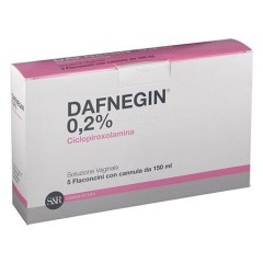 dafnegin 5 flaconi soluzione vaginale 150 ml 0,2%