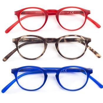 contacta wall street occhiali presbiopia blu +3,00