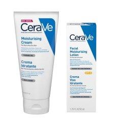 cerave sleever crema corpo idratante 177 ml + crema viso 52 ml
