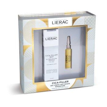 lierac cofanetto cica-filler gel-crema anti-rughe riparatore 40 ml + siero anti-rughe riparatore 10 ml