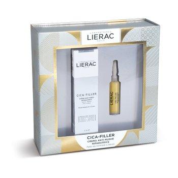 lierac cofanetto cica-filler crema anti-rughe riparatrice 40 ml + siero anti-rughe riparatore 10 ml