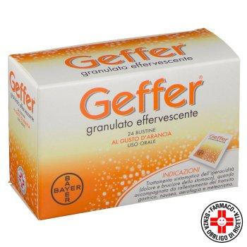 geffer granulato effervescente 24 bustine 5 g