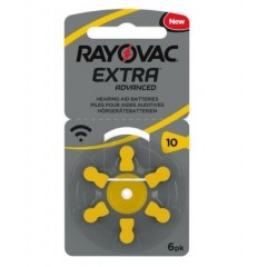 Rayovac Batterie Zinco Aria Modello 10 Per Apparecchi Acustici 6 Pezzi