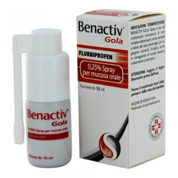 benactiv gola spray orale 0,25% 15ml