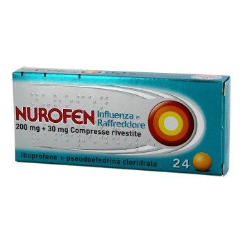 nurofen influenza e raffreddore 24 compresse