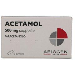 acetamol 10 supposte bambbini 500 mg