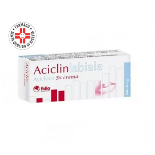 Aciclovir ACICLIN Labiale Crema 5% 2g