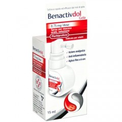 benactivdol gola spray orale 15ml 8,75 mg per dose