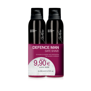 bionike defence man bi-pack schiuma barba 2 x 200 ml
