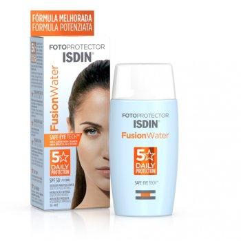 isdin fotoprotector fusion water fps 50+ protezione solare molto alta 50 ml