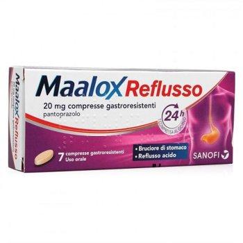 maalox reflusso 7 compresse 20 mg