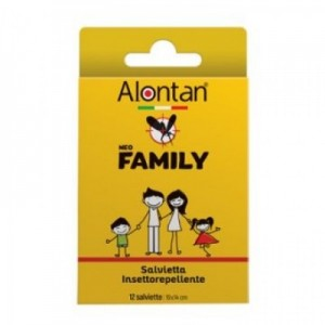 Alontan Neo Family Salviette Anti Zanzare 12 pezzi