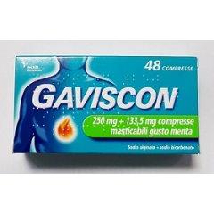 gaviscon 48 compresse masticabili menta 250+133mg