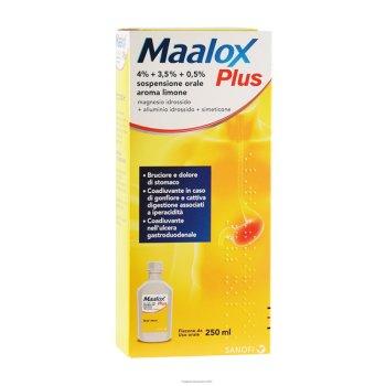 maalox plus sospensione orale 250 ml
