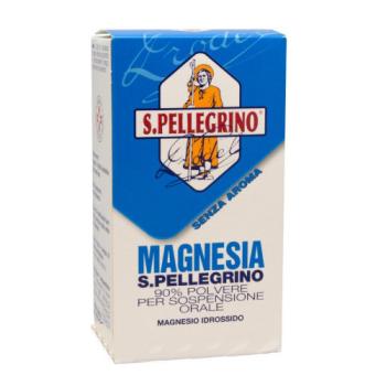 magnesia san pellegrino 90% polvere per sospensione orale 100g