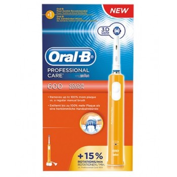 oralb spazzolino elettrico pc 600  crossaction arancio