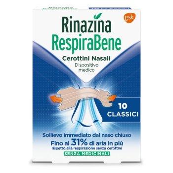 rinazina respirabene classici 10 cerotti nasali