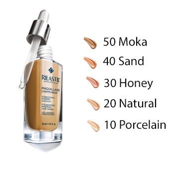 rilastil maquillage fondotinta in siero n.50