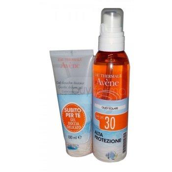avene solari olio spf 30 protezione alta 200 ml + gel doccia delicato 100 ml