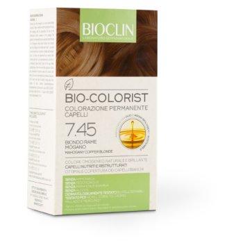 bioclin bio colorist tintura capelli colore 7.45 biondo rame mogano