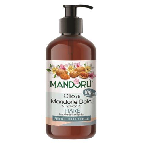 MANDORLÌ Olio di Mandorle Dolci Profumo TIARÉ Olio Corpo 300ml