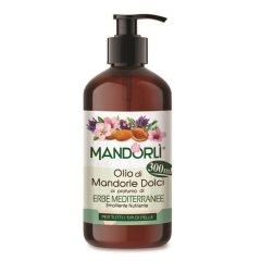 MANDORLÌ Olio di Mandorle Dolci ERBE MEDITERRANEE Olio Corpo 300ML